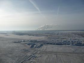Panorama-Foto des Tagebau Nochten